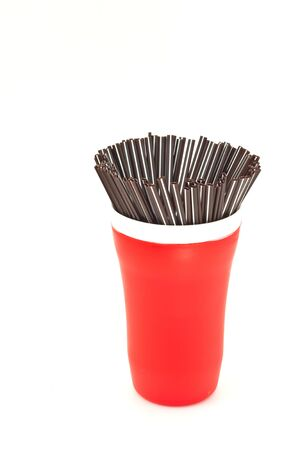 brown straw in a cup photo