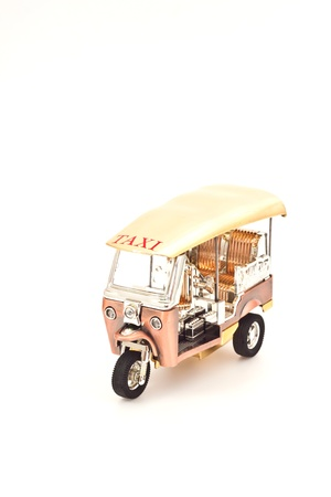 golden tuk tuk car photo