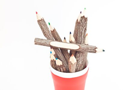 many color pencil made from wood Stock Photo - 16324776