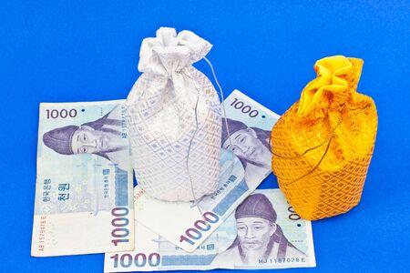 money bag with money Stock Photo - 16502883