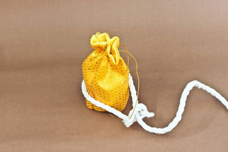 money bag with one rope Stock Photo - 16479456