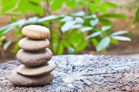 piedras zen: alma relajaci?n Foto de archivo