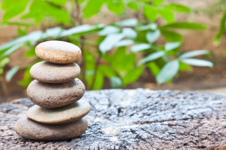 zen stones: soul relaxation Stock Photo