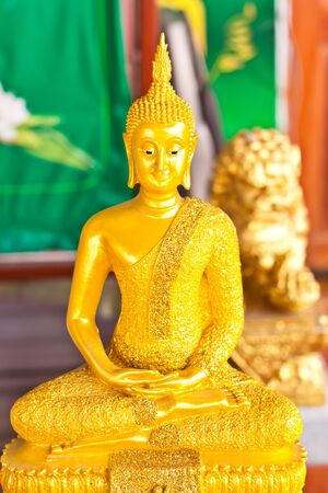 paper sculpture: Buddha statue in Thailand Stock Photo