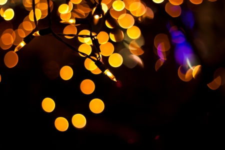 electricity with bokeh photo
