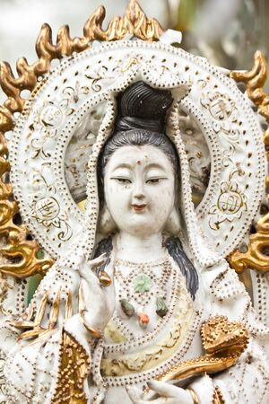goddess  guan-im  statue photo