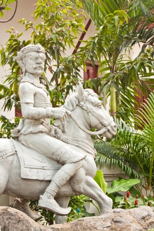 giant statue with his horse