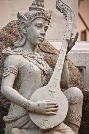 face of fairy statue Standard-Bild