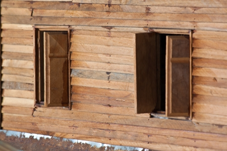 wood windows photo
