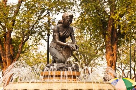 Statue e fontane nel parco