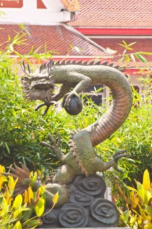 dragon statue in thailand photo