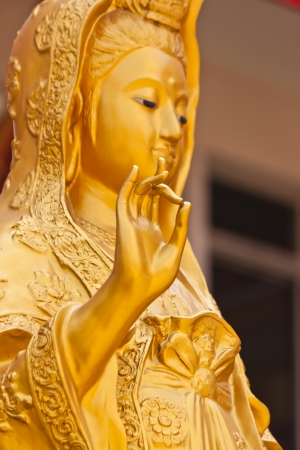 goddess  Guan-im  statue in thailand photo
