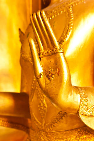 hand of Buddha statue in thailand photo
