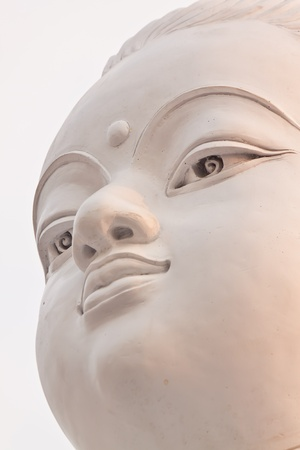 Face of Sitthatta Prince statue in thailand photo