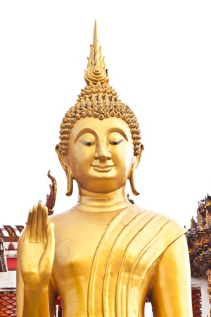 beautiful face of buddha statue in thailand photo