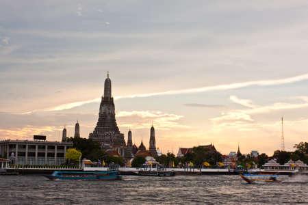 pagoda at wat arun bangkok of thailand photo
