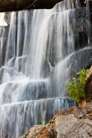 beauty of waterfall in thailand photo