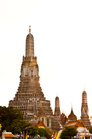 pagoda at wat arun bangkok of thailand photo