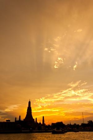 pagoda at wat arun bangkok of thailand