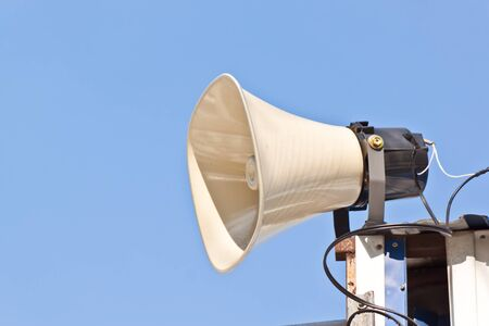 megaphone with blue sky