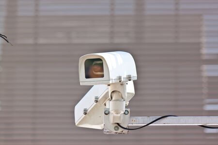 cctv with brown background photo