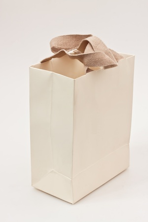 paper bag with white background photo