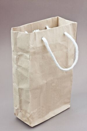 paper bag with brown background photo