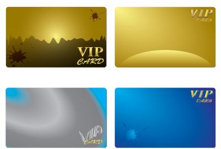 VIP card design Vettoriali