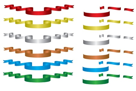 ribbon collections Vector
