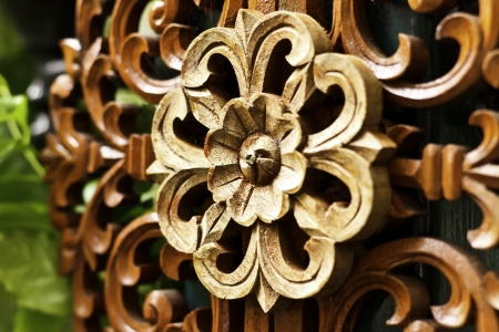 Wood carving Stock Photo
