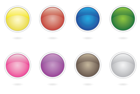 button design collection Vector