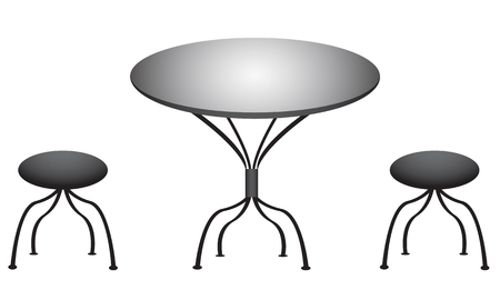 Chair and table design photo
