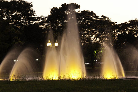 Lights in the fountain photo
