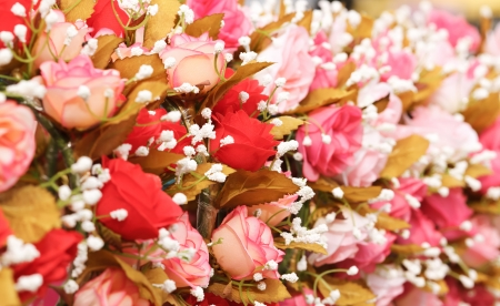 Artificial flowers photo