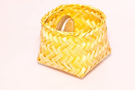 wicker on white paper photo