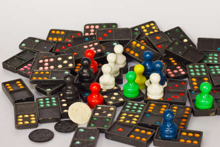 domino: domino on the paper Stock Photo