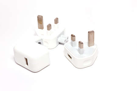 plug on white paper photo