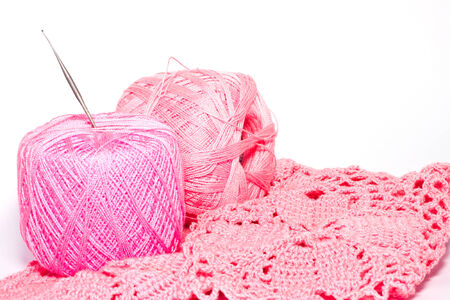 the silk for knitting work photo