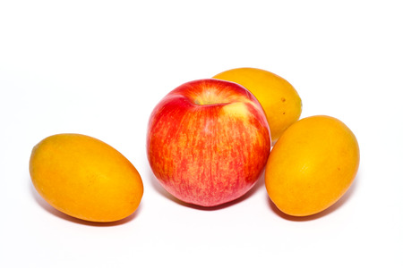 fruit on white background photo
