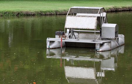 water turbine in garden photo