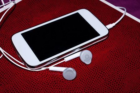 earphone on lovely background photo