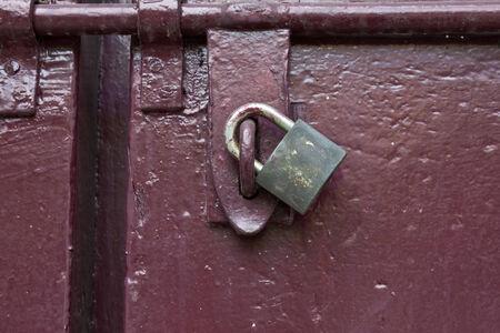 the lock key on big door photo