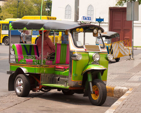 three wheel motor in thailand call tuk tuk photo