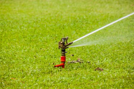 spattering: the sprinkler in garden