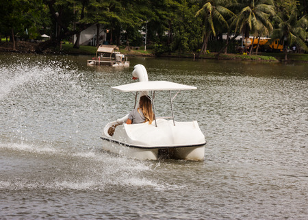 swan spin boat photo