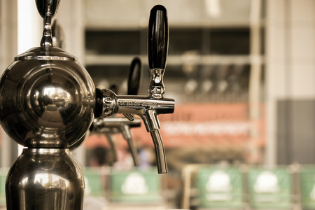 beer pump: the beer pump Stock Photo