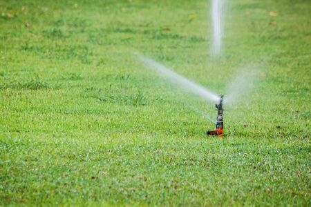 the sprinkler in garden photo