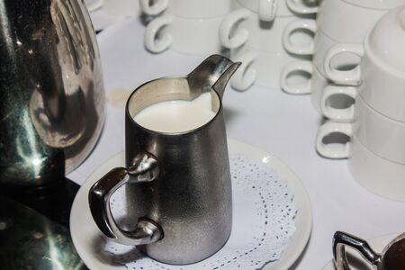milk in jug Archivio Fotografico