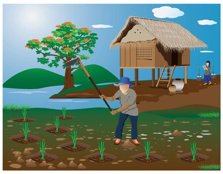 woodpile: lifestyle countryside vector design Illustration
