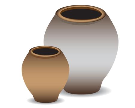 greek pot: grosso vaso di terracotta per la progettazione di acqua vettore Vettoriali